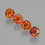 thumb image of 2ct Round Facet Orange Spessartite Garnet (ID: 401594)