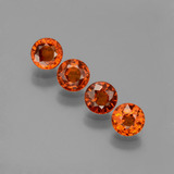 thumb image of 2.2ct Round Facet Orange Spessartite Garnet (ID: 401767)