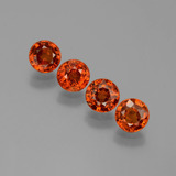 thumb image of 2.8ct Round Facet Orange Spessartite Garnet (ID: 401770)