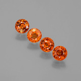 thumb image of 2.4ct Round Facet Orange Spessartite Garnet (ID: 401778)