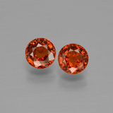 thumb image of 1.2ct Round Facet Orange Spessartite Garnet (ID: 401805)