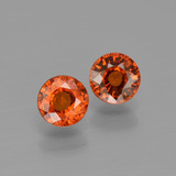 thumb image of 1ct Round Facet Orange Spessartite Garnet (ID: 401814)