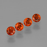 thumb image of 2.3ct Round Facet Orange Spessartite Garnet (ID: 401821)