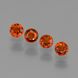 thumb image of 2.1ct Round Facet Orange Spessartite Garnet (ID: 401822)