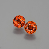 thumb image of 1.4ct Round Facet Orange Spessartite Garnet (ID: 401900)