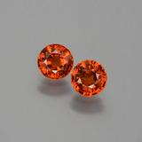 thumb image of 1.3ct Round Facet Orange Spessartite Garnet (ID: 401901)