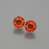 thumb image of 1.2ct Round Facet Orange Spessartite Garnet (ID: 401904)