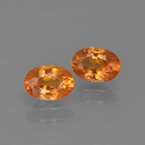 thumb image of 1.5ct Oval Facet Orange Spessartite Garnet (ID: 402048)