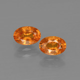 thumb image of 1.5ct Oval Facet Orange Spessartite Garnet (ID: 402049)
