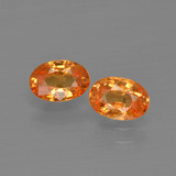 thumb image of 1.4ct Oval Facet Orange Spessartite Garnet (ID: 402053)