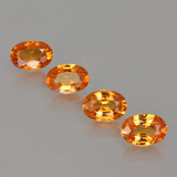 thumb image of 2.5ct Oval Facet Orange Spessartite Garnet (ID: 402253)