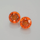 thumb image of 1.3ct Round Facet Orange Spessartite Garnet (ID: 402286)