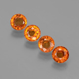 thumb image of 1.7ct Round Facet Orange Spessartite Garnet (ID: 402377)