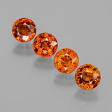 thumb image of 2.9ct Round Facet Orange Spessartite Garnet (ID: 402382)