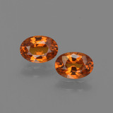 thumb image of 1.3ct Oval Facet Orange Spessartite Garnet (ID: 402518)