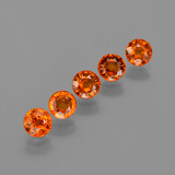 thumb image of 1.9ct Round Facet Orange Spessartite Garnet (ID: 402523)