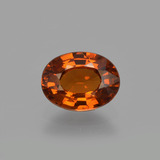 thumb image of 1.2ct Oval Facet Orange Spessartite Garnet (ID: 404168)