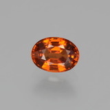 thumb image of 1.3ct Oval Facet Orange Spessartite Garnet (ID: 406199)