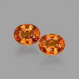 thumb image of 1.7ct Oval Facet Orange Spessartite Garnet (ID: 407019)