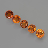 thumb image of 1.6ct Round Facet Orange Spessartite Garnet (ID: 407065)