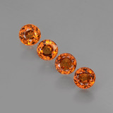 thumb image of 1.6ct Round Facet Orange Spessartite Garnet (ID: 407071)