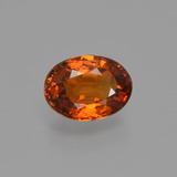 thumb image of 1ct Oval Facet Orange Spessartite Garnet (ID: 407208)