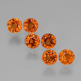 thumb image of 2.5ct Round Facet Orange Spessartite Garnet (ID: 407237)