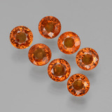 thumb image of 2.7ct Round Facet Orange Spessartite Garnet (ID: 407239)