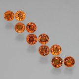 thumb image of 3.2ct Round Facet Orange Spessartite Garnet (ID: 407241)