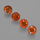 thumb image of 2.3ct Round Facet Orange Spessartite Garnet (ID: 417592)