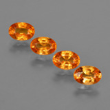 thumb image of 2.8ct Oval Facet Orange Spessartite Garnet (ID: 417757)