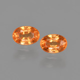 thumb image of 1.6ct Oval Facet Orange Spessartite Garnet (ID: 417948)
