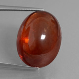 thumb image of 31.6ct Oval Cabochon Red Orange Spessartite Garnet (ID: 424305)