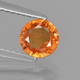 thumb image of 0.8ct Round Facet Orange Spessartite Garnet (ID: 425534)