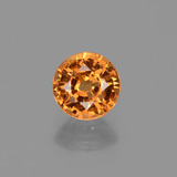 thumb image of 0.7ct Round Facet Orange Spessartite Garnet (ID: 425664)