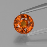 thumb image of 0.8ct Round Facet Orange Spessartite Garnet (ID: 425718)