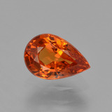 thumb image of 0.9ct Pear Facet Orange Spessartite Garnet (ID: 426036)