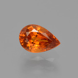 thumb image of 0.8ct Pear Facet Orange Spessartite Garnet (ID: 426109)