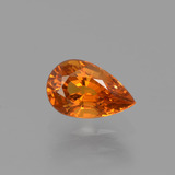 thumb image of 0.9ct Pear Facet Orange Spessartite Garnet (ID: 426116)