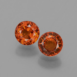 thumb image of 0.9ct Round Facet Orange Spessartite Garnet (ID: 436150)