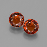 thumb image of 1.5ct Round Facet Orange Spessartite Garnet (ID: 436153)
