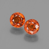 thumb image of 1.4ct Round Facet Orange Spessartite Garnet (ID: 436156)