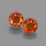 thumb image of 1.5ct Round Facet Orange Spessartite Garnet (ID: 436157)