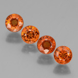 thumb image of 2.9ct Round Facet Orange Spessartite Garnet (ID: 436350)