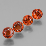 thumb image of 0.8ct Round Facet Deep Orange Red Spessartite Garnet (ID: 436351)