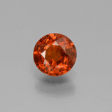 thumb image of 0.7ct Round Facet Orange Spessartite Garnet (ID: 436611)