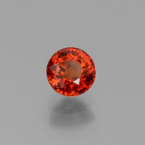 0.66 ct Round Facet Orange Spessartite Garnet Gem 4.70 mm  (Photo B)
