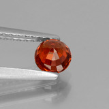 0.66 ct Round Facet Orange Spessartite Garnet Gem 4.70 mm  (Photo C)
