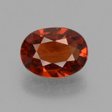 thumb image of 1ct Oval Facet Orange Spessartite Garnet (ID: 440097)