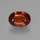 thumb image of 0.9ct Oval Facet Orange Spessartite Garnet (ID: 440101)